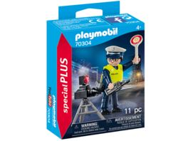 PLAYMOBIL 70304 specialPlus Polizist mit Radarfalle