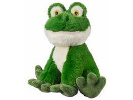 Bauer Eco Line I LIKE MY PLANET Pluesch Frosch sitzend 20cm