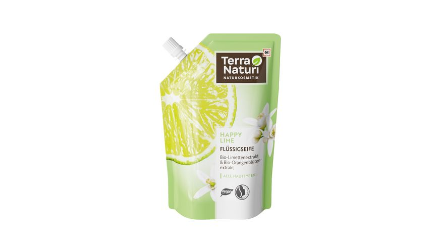 Terra Naturi Flüssigseife Happy Lime Nachfüllpack