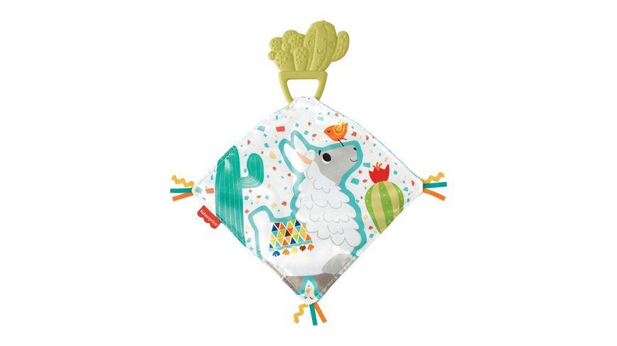 Fisher-Price Kaktus Beißring & Kuscheltuch, Baby-Spielzeug, Schnuffeltuch