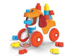 Mega Bloks Huendchen zum Hinterherziehen Nachzieh Spielzeug mit Bausteinen