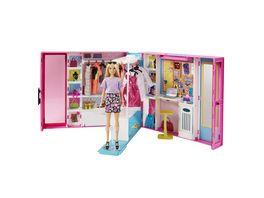 Barbie Traum Kleiderschrank ausklappbar mit Puppe Zubehoer und Puppen Kleidung