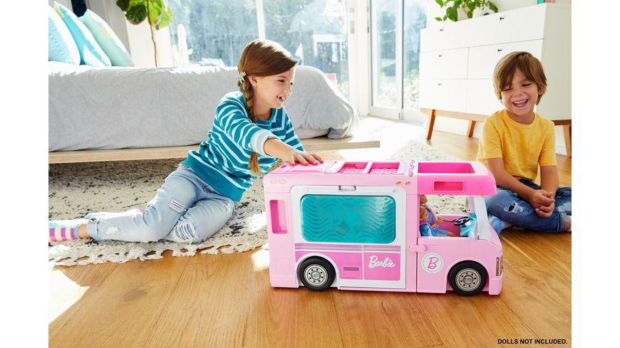 Mattel Barbie 3 in 1 Super Abenteuer Camper mit Zubehoer
