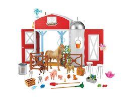 Mattel Barbie Spass auf dem Bauernhof Scheunen Spielset mit Tieren
