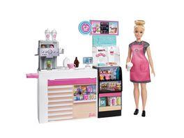 Mattel Barbie Naschcafe Spielset und Puppe