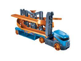 Hot Wheels Mega Action Transporter fuer 20 1 64 Spielzeugautos inkl 1 Spielauto