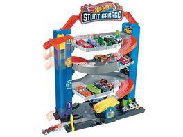 Hot Wheels Stunt Garage Spielset Parkhaus inkl 1 Spielzeugauto Parkgarage