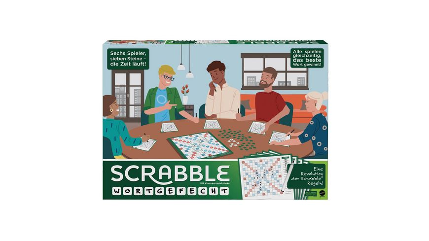 Mattel Games Scrabble Wortgefecht, Gesellschaftsspiel, Brettspiel, Familienspiel