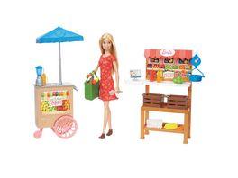 Mattel Barbie Spass auf dem Bauernhof Bauernmarkt Spielset und Puppe