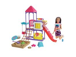 Barbie Skipper Babysitter Spielplatz Spielset mit Puppen und formbarem Sand