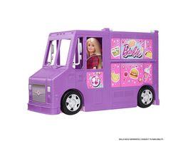 Barbie Food Truck Spielset aufklappbar ueber 30 Teile Puppen Zubehoer