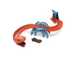Hot Wheels Kobra Bruecke Angriff Spielset inkl 1 Spielzeugauto Autorennbahn