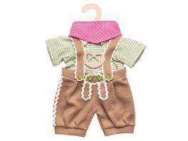 Heless Puppen Trachtenhose mit Hemd 3 teilig Gr 28 35 cm
