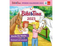Bibi Tina Pferde Kalender 2021 Woche fuer Woche Pferdespass und Lernraetsel 1 und 2 Klasse 17 6x16 2cm