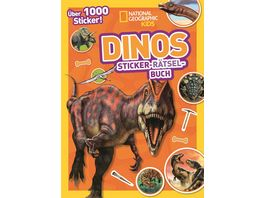 Dinos Sticker Raetsel Buch mit ueber 1000 Stickern National Geographic Kids