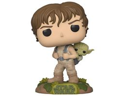 Funko POP Star Wars 40th Anniversary The Empire Strikes Back Luke Skywalker Yoda Dagobah Training Bobble Head Figur