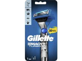Gillette Mach3 Turbo 3D Rasierer 1 Rasierklinge