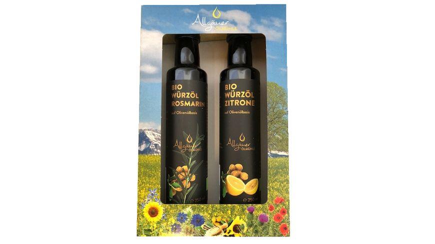 Allgäuer Ölmühle Bio Genießerbox Würzöl 2x250 ml