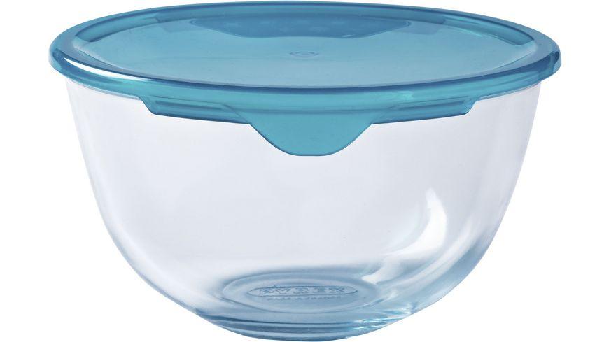 PYREX Rührschüssel aus Glas mit Deckel 1l