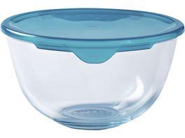 PYREX Ruehrschuessel aus Glas mit Deckel 1l
