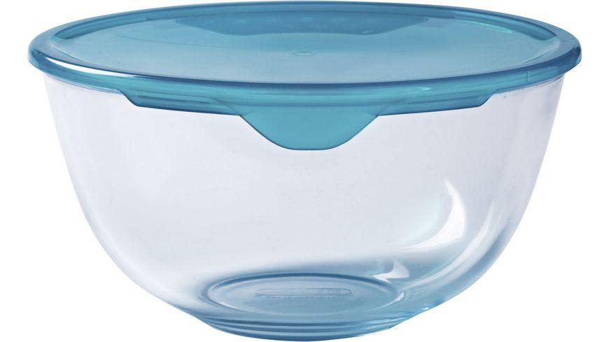 PYREX Rührschüssel aus Glas mit Deckel 2l