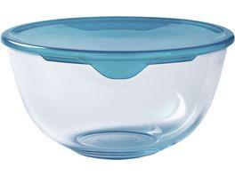 PYREX Ruehrschuessel aus Glas mit Deckel 2l