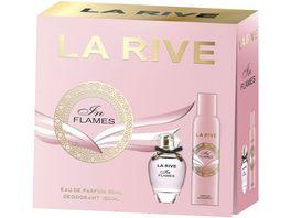 LA RIVE In Flames Eau de Parfum Deo Geschenkpackung