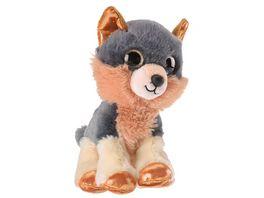 Mueller Toy Place Sparkle Tales Plueschtier Wolf 20 cm