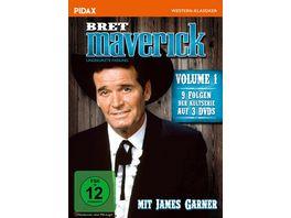 Bret Maverick Vol 1 Neun Folgen der legendaeren Westernserie mit James Garner Pidax Western Klassiker 3 DVDs