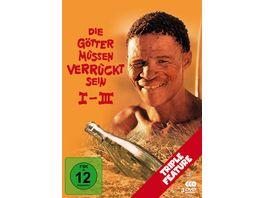 Die Goetter muessen verrueckt sein I III Triple Feature Filmjuwelen 3 DVDs