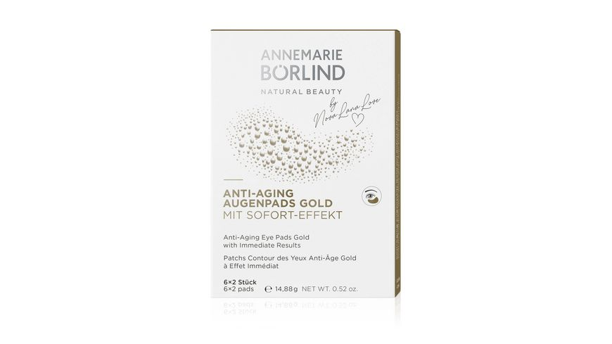 ANNEMARIE BOeRLIND AUGEN LIPPENPFLEGE ANTI AGING AUGENPADS GOLD