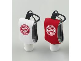 FC BAYERN SCHLUeSSELANHAeNGER Hand Sanitizer mit Schluesselanhaenger