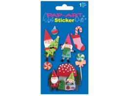 PAP ART Sticker Zwege Handmade Papier 1 Blatt