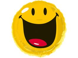 Amscan Standard Smiley Folienballon 43 cm