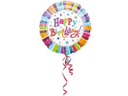 Amscan Standard Radiant Birthday Happy Birthday Folienballon 45cm Durchmesser