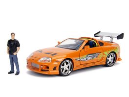 Jada Hollywood Rides Toyota Supra w Brian O Conner Figure