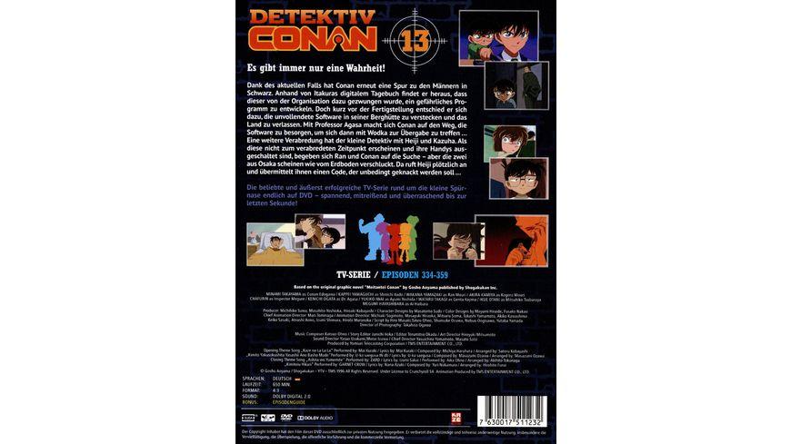 Detektiv Conan TV Serie DVD Box 13 Episoden 334 358 5 DVDs