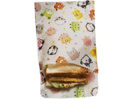 nuts Bienenwachstuch Sandwich und Snack Kids 2 Stueck