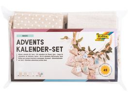 folia Adventskalender Set Stoffbeutel Basic