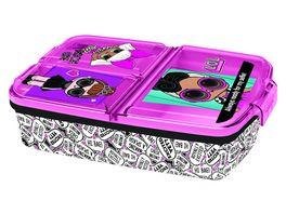 p os Handel LOL Surprise Sandwich Box dreigeteilt