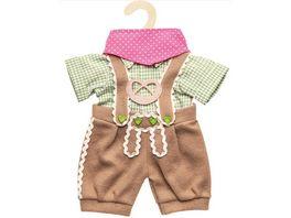 Heless Puppen Trachtenhose mit Hemd 3 teilig Gr 35 45 cm