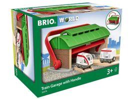 BRIO Bahn Mitnehm Lokschuppen mit Reisezug