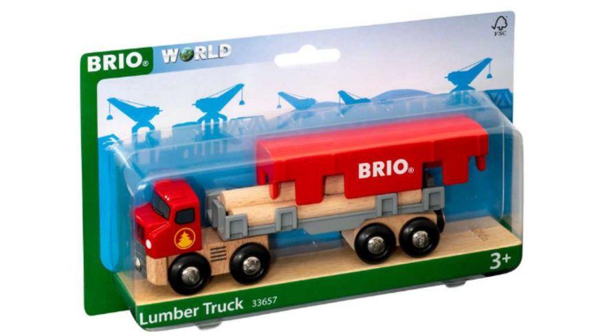 BRIO Bahn - Holztransporter mit Magnetladung