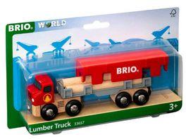 BRIO Bahn Holztransporter mit Magnetladung