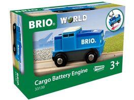 BRIO Bahn Blaue Batterie Frachtlok