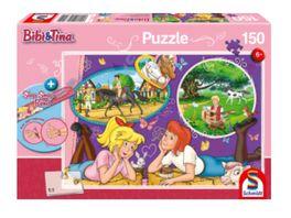 Schmidt Spiele Kinderpuzzle Bibi und Tina Freundinnnen fuer immer Slap Snap Band