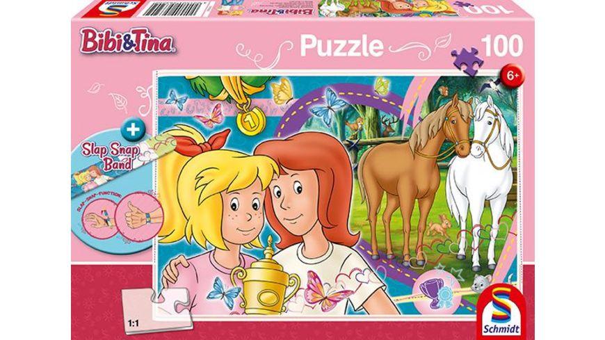 Schmidt Spiele Kinderpuzzle Bibi Tina Pferdeglueck Slap Snap Band 100 Teile