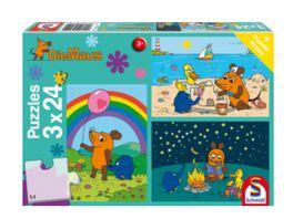 Schmidt Spiele Kinderpuzzle Die Maus Gute Freunde 3x24 Teile
