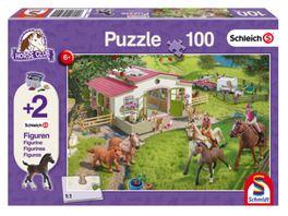 Schmidt Spiele Kinderpuzzle Schleich Horse Club Ausritt ins Gruene Kinderpuzzle 2 Schleich Figuren 100 Teile