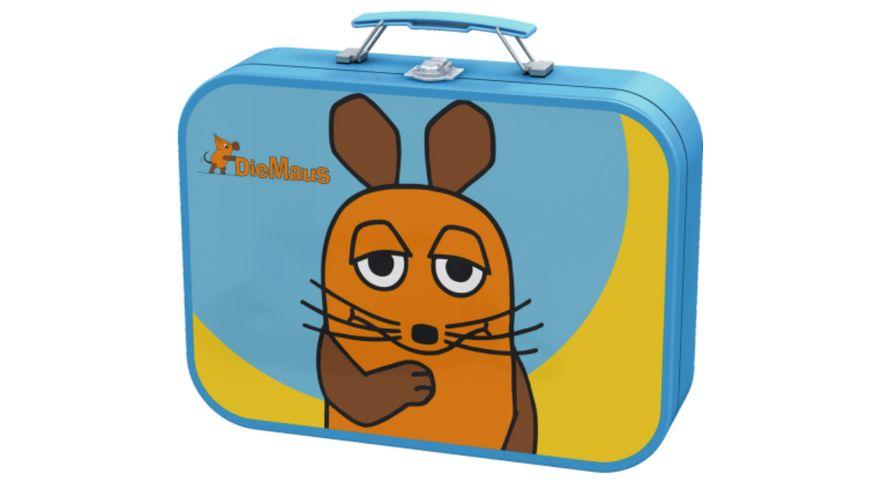 Schmidt Spiele Kinderpuzzle Die Maus Puzzle Box im Metallkoffer 48 Teile